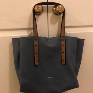 Joe's Alexa triple compartment light blue tote bag